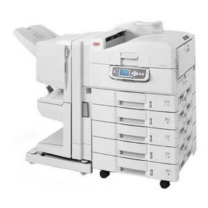 Okidata C9650N LED Printer.up to 11x 17 and 12x18 paper size. 4 Paper Trays (DEMO UNIT)