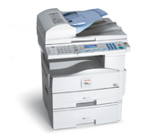 Ricoh Aficio MP161SPF Copier (16cpm): SCAN, PRINT AND FAX are all included in the price. These come STANDARD with the copier. REMANUFACTURED